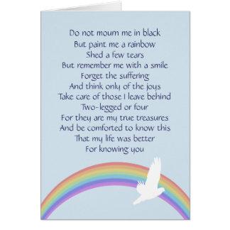 Cartão Pinte-me um arco-íris -- Final adeus