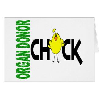 Cartão Pintinho 1 do dador de órgãos
