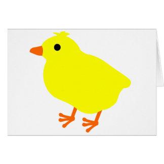 Cartão Pintinho bonito da páscoa