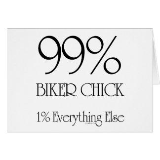 Cartão Pintinho do motociclista de 99%