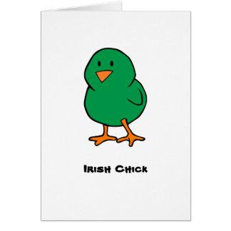 Cartão Pintinho irlandês