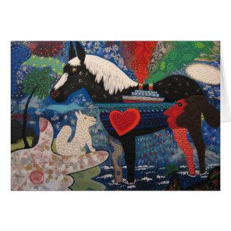 Cartão Pintura 1976 costeando do cavalo de Roy De