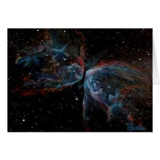 Cartão Pintura astronômica da nebulosa da borboleta da