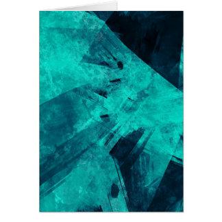 Cartão Pintura Azul-Preta