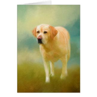 Cartão Pintura bonito de labrador retriever
