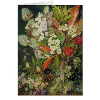 Cartão Pintura botânica norte de Marianne