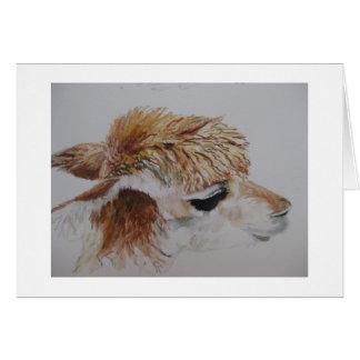 Cartão Pintura da alpaca