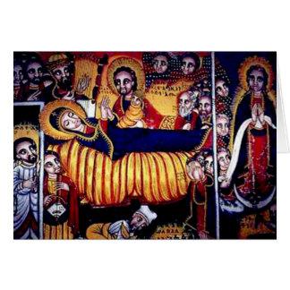 Cartão Pintura da igreja de Axum