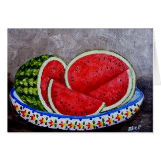 Cartão Pintura da melancia