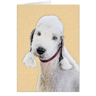Cartão Pintura de Bedlington Terrier 2 - arte original do