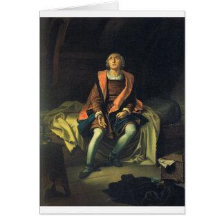 Cartão Pintura de Cristóvão Colombo por Antonio de