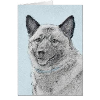 Cartão Pintura de Elkhound do norueguês - arte original