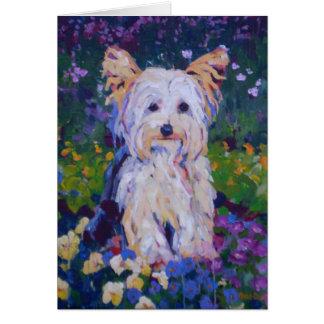 Cartão Pintura de Terrier