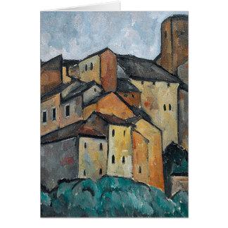 Cartão Pintura de Villiage do italiano do vazio das casas