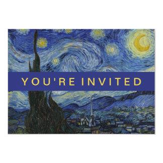Cartão Pintura de Vincent van Gogh da noite estrelado