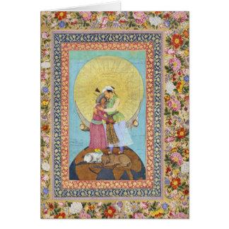 Cartão Pintura diminuta de India desde 1618