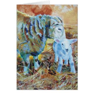 Cartão Pintura do cordeiro e dos carneiros