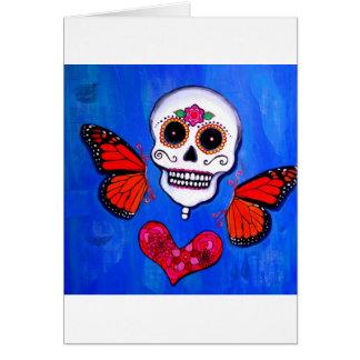 Cartão Pintura do crânio de Diâmetro De Los Muertos