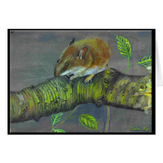 Cartão Pintura do rato de campo