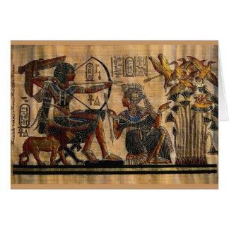 Cartão Pintura do túmulo no papiro