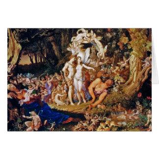 """Cartão Pintura feericamente """"Oberon e Titania """""""