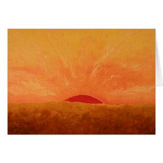 Cartão Pintura gloriosa do nascer do sol