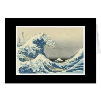 """Cartão """"Pintura japonesa da grande onda"""""""