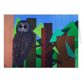 Cartão Pintura manchada da coruja