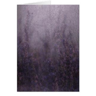 Cartão Pintura mural da névoa da lavanda