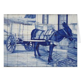 Cartão Pintura mural de Azulejo