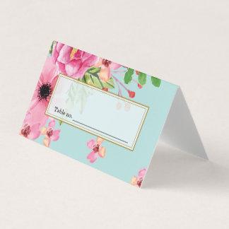 Cartão Pintura tirada mão da flor do vintage da aguarela