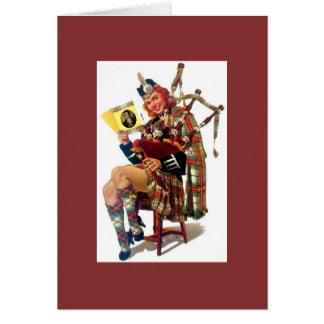 """Cartão Pinup escocês do vintage """"sexy"""" com Robert Burns"""