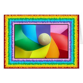Cartão Pinwheel colorido