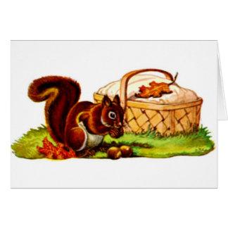 Cartão Piquenique do esquilo