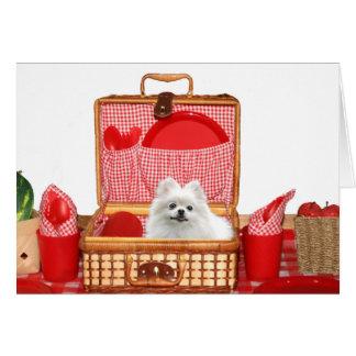 Cartão Piquenique Pomeranian