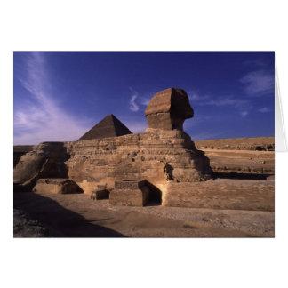 Cartão Pirâmide da esfinge em Giza