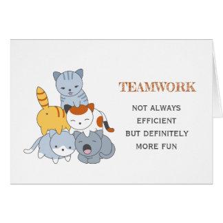Cartão Pirâmide do gato - grupo de citações dos trabalhos