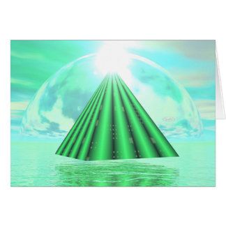 Cartão Pirâmide Mystical - 3D rendem