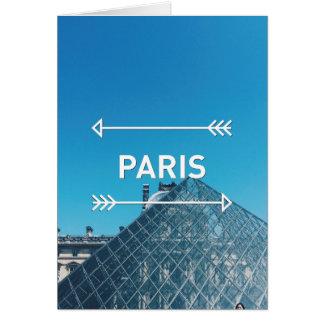 Cartão Pirâmide Paris do Louvre