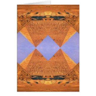 Cartão Pirâmides psicadélicos