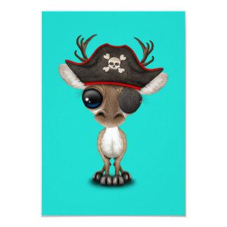 Cartão Pirata bonito da rena do bebê