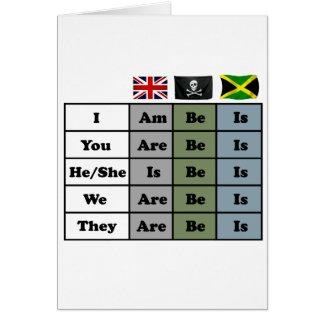 Cartão - pirata - carta inglesa da gramática de jamaica