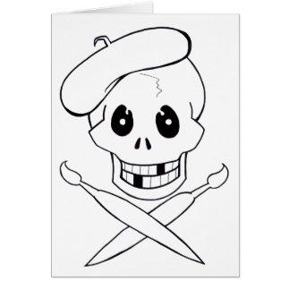 Cartão Pirata de Arrrrtist (crânio e Crossbones)