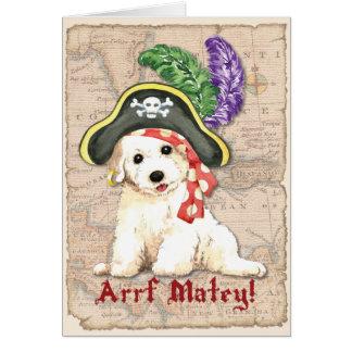 Cartão Pirata de Bichon Frise