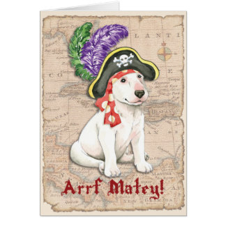 Cartão Pirata de bull terrier
