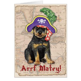Cartão Pirata de Rottweiler