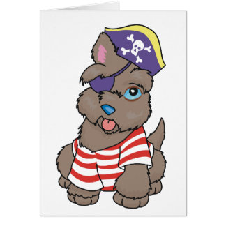 Cartão Pirata do cão