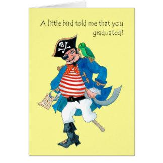 Cartão Pirata do divertimento, parabéns da graduação do