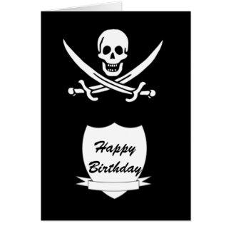 Cartão Pirata e monograma