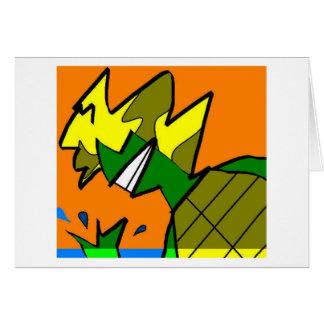 Cartão Pisco de peito vermelho da tartaruga